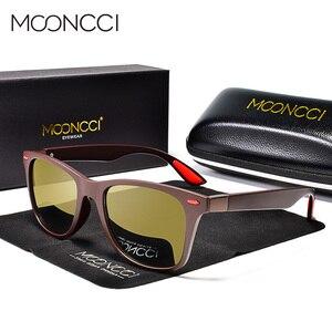 Image 3 - MOONCCI Square Night Vision Sunglasses Men Polarized HD Night Driving Goggles Glasses Women Yellow Driver Eyewear Unisex Oculos