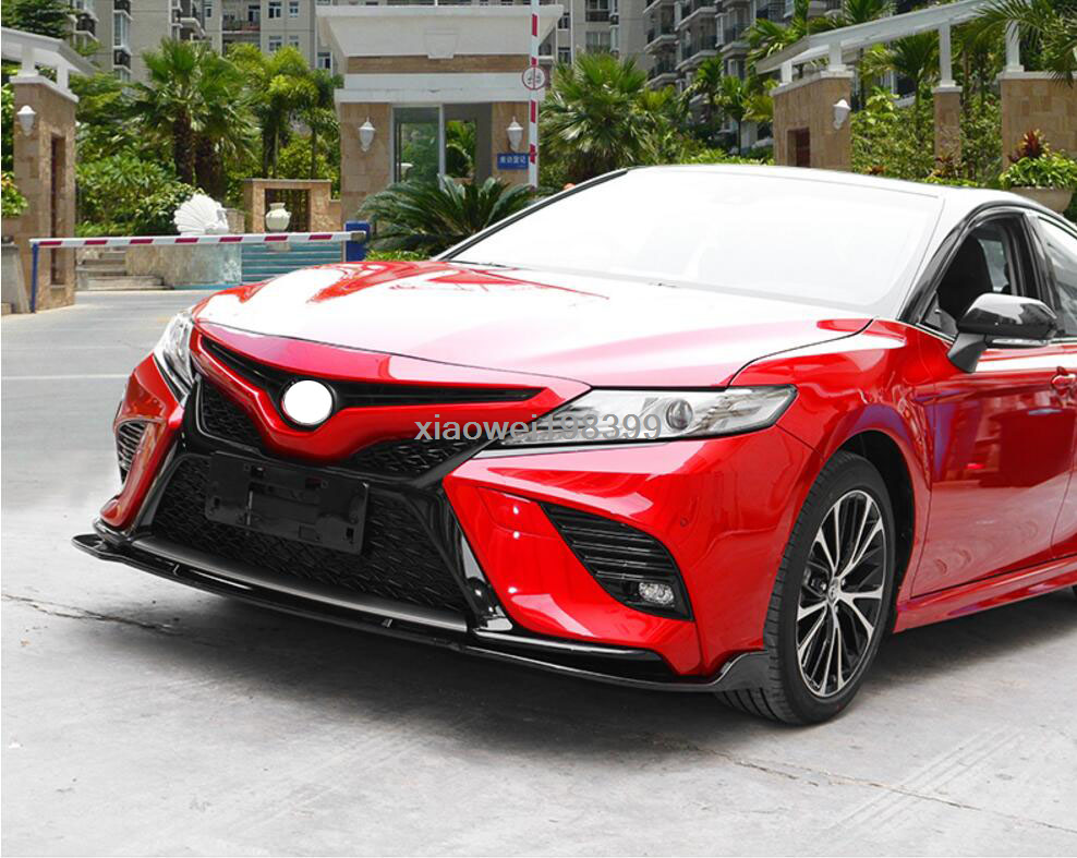 3PCS red ABS Car Exterior Front Bumper Lip Spoiler Fit For Toyota Camry 2018