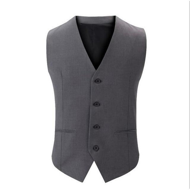 Nueva Casual Mens Traje Chaleco Slim Fit Chaleco de Hombre Formal Del Estilo de Inglaterra Vestido de Chaleco traje chaleco