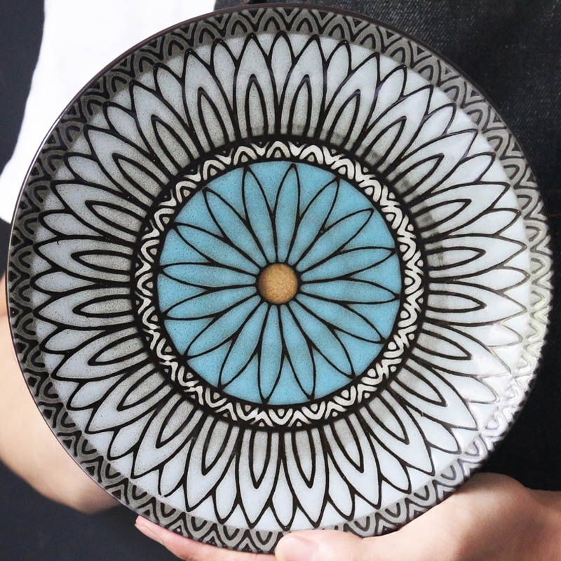 high quality Japanese Traditional Style Ceramic Dinner Plates Porcelain Dishes Saucer plate Sushi plate Rice Noddle Dinnerware in Dishes Plates from Home Garden