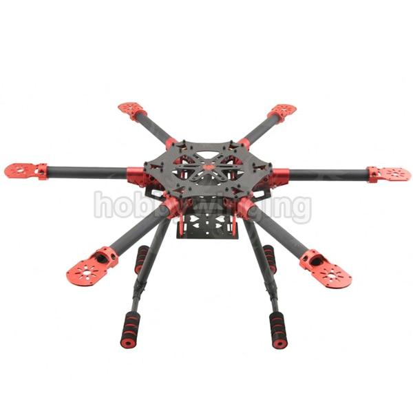 600 мм/750 мм 6 оси углеродного Волокно складной Hexacopter Рамки комплект с Шасси для аэрофотосъемки