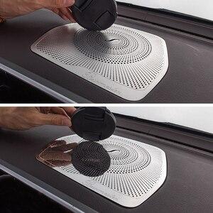 Dashboard Loudspeaker Cover Stickers Trim Accessories LHD For Mercedes Benz W205 GLC C Class C180 C200 Car styling Audio Speaker