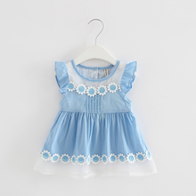 Baby Girl Dress Sunflowers Clothes 0-2T