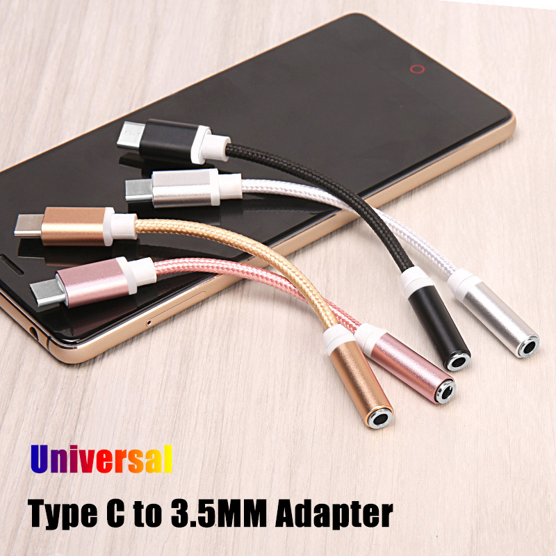 Hot USB Type-c Adapter For Xiaomi Mi 8 6 Huawei Letv Leeco Le Max 2 S3 Pro 3 Type C To Jack 3.5 Mm Headphone Audio Adaptor Cable