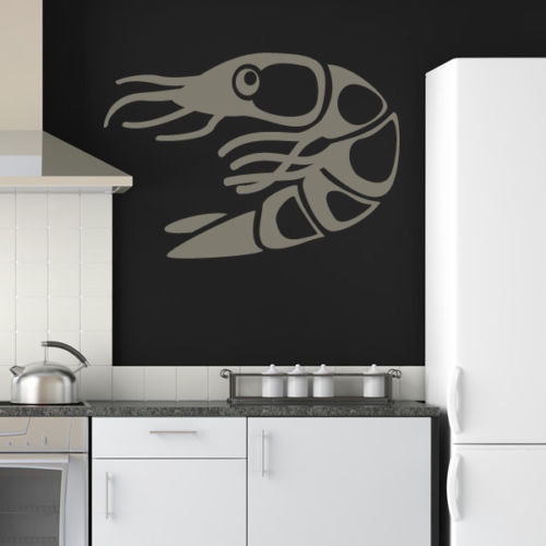 Fish ocean seafood vinyl wall decal shrimp print