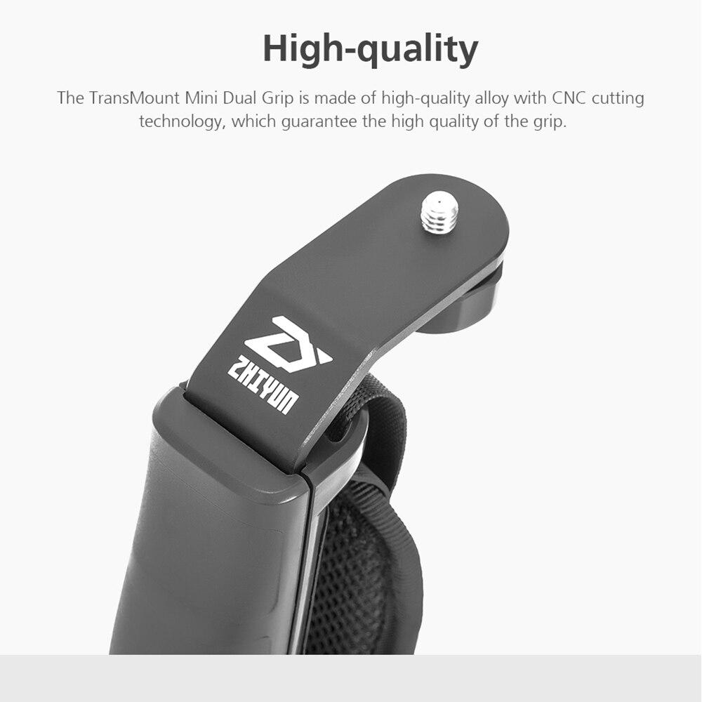 ZHIYUN Official Crane 2 Gimbal Accessories L Bracket TransMount Mini Dual Grip for LED Light/Microphone/Monitor 7