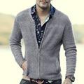 2016 venda quente marca famouse blusas de Algodão dos homens novos moda casual zipper Cardigans brasão boa qualidade pull homme NOVA CHEGADA