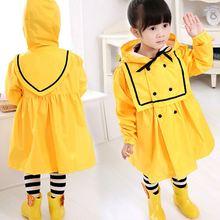 Shipping Korea new children raincoat Baby Girls Princess poncho raincoats student upset paragraph paternity