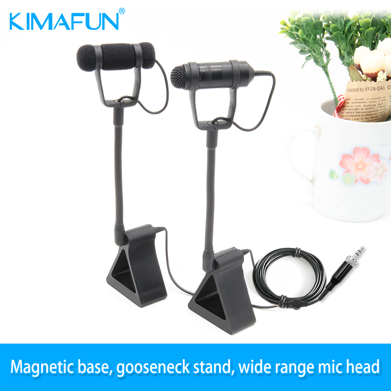 KIMAFUN CX250 Portable Mic Instrument Condenser Microphone Professional Musical Instrument Microphones for Piano 4 kinds plug condenser wired stage saxophone microphone professional trumpet sax gooseneck musical instrument mic