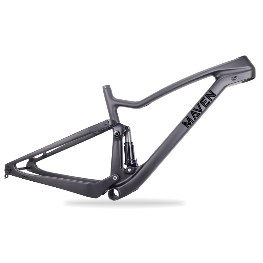 Boost bike 650B Full suspension Carbon Mtb frame 148*12mm Carbon fiber 27.5er Plus Carbon mountain bike frame with MAVEN Paint track frame fixed gear frame bsa carbon 1 1 2to 1 1 8 bike frameset with fork seatpost road carbon frames fixed gear frameset