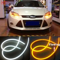 2 X 60cm Audi Style Sequential Car DRL White Amber Flexible LED Strip Headlight Switchback Turn
