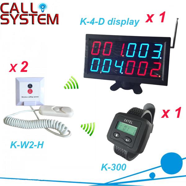 Serviço sem fio chamando botão puxe a corda para chamar para o paciente com o relógio, receptor de exibição com cetification CE