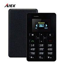 Новый ультра тонкий AIEK M5 карты телефон 4.5 мм мини карман для мобильного aeku кредитных карт тонкий телефон Русский Арабский или Английский Клавиатура