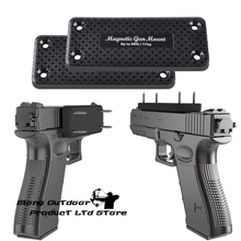 2X Magnetic Gun Holder Holster Gun Magnet Pistol Rifle Hunting Concealed for Car Under Table Bedside Load bearing 17 KG 36LBS flat top gun magnet mount holster concealed carry magnetic holder for truck car vehicle wall doorway office and table