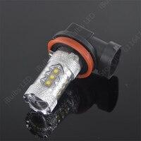 2 قطع h11 led الضباب drl ضوء مصباح لمبة الضوء 8-30 فولت سيارة الإضاءة استبدال زينون الهالوجين hid مصابيح