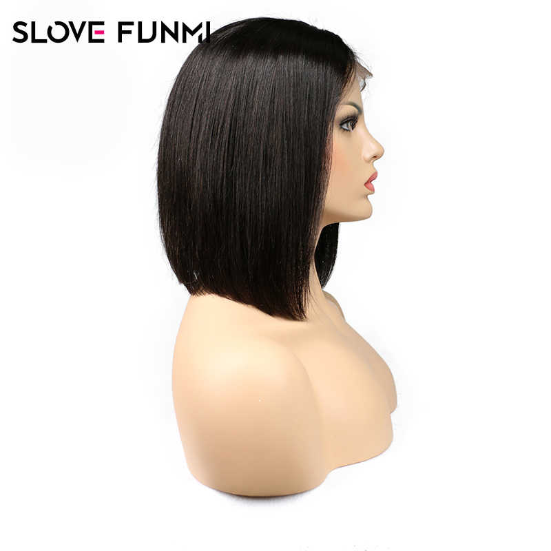 Closure Wig 4x4 Short Bob Brazilian Lace Front Human Hair Wigs For Black Women Remy Baby Hair Straight Full End Lace Frontal Wig