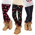 Pantalones de los niños Otoño Invierno Gruesa Caliente Polainas de Las Muchachas Pantalones