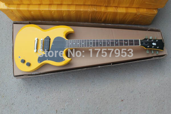 Factory custom shop 2017 Newest yellow 1 pickups standard S G Electric Guitar Free shipping (HAI 4