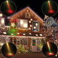 Outdoor Waterproof 8 Patterns R&G Laser Projector Landscape Holiday Christmas Club Home Party Tree Garden Xmas Stage Light T40