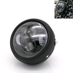 Image 1 - Faro LED para motocicleta hola y Lo faro bombilla DRL con Ángel anillo para Harley Sportster Cafe Racer Bobber