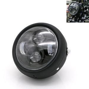 Image 1 - Motorcycle LED Headlight Hi&Lo HeadLamp Bulb DRL With Angel Ring for Harley Sportster Cafe Racer Bobber