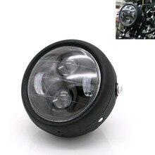Motorrad LED Scheinwerfer Hallo & Lo Scheinwerfer Lampe DRL Mit Engel Ring für Harley Sportster Cafe Racer Bobber