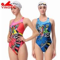 Yingfa 2016 One Piece Female Swimwear Women Swimming Racing Suit Competition Swimsuits Girls Professional Swim Solid