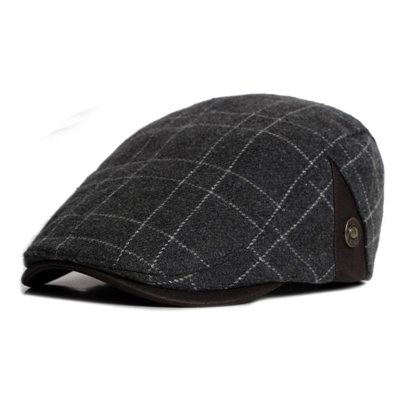 5b2214ceb Fashion 2016 New Male Flat Cap Leisure Men Newsboy Hat Winter ...