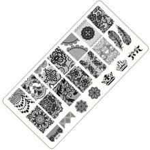 1 Piece Fashion Lace Design Nail Stamping Plates Nail Art Image Konad Stamp Plates Manicure Set