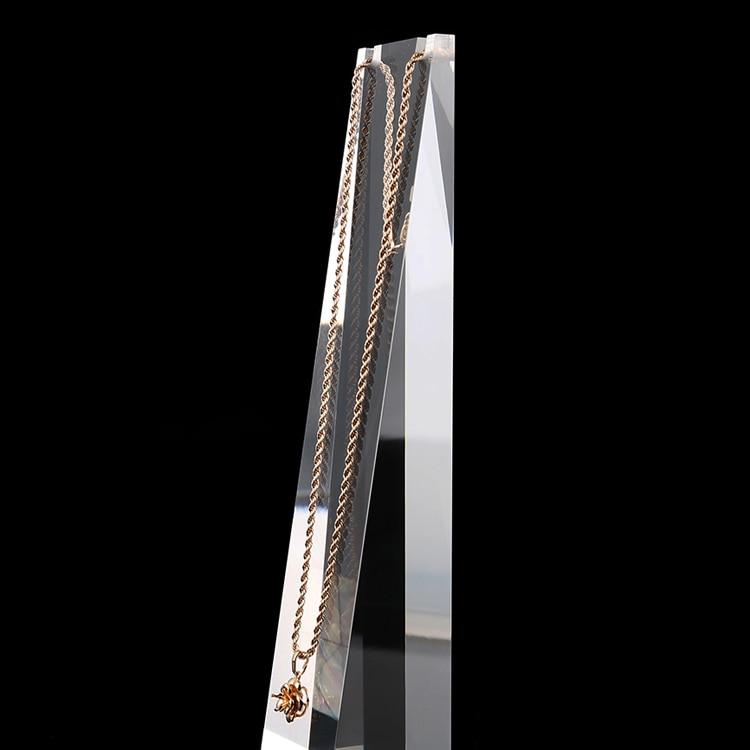 """Image 2 - 8 """"Прозрачный матовый белый акриловый плексиглас, подвесное ожерелье, дисплей, подставка, цепь, держатель для ювелирных изделий, органайзер, стойка для украшенияstand chainnecklace display standnecklace display -"""