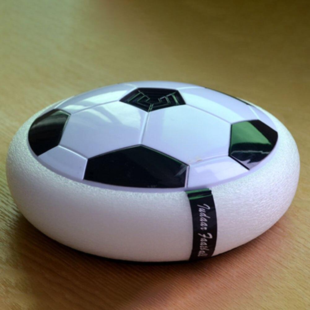 Eerzuchtig Knipperende Voetbal Speelgoed Kleurrijke Air Power Voetbal Disc Indoor Zweven Voetbal Zweefvliegen Kids Toy Gift Een Plastic Behuizing Is Gecompartimenteerd Voor Veilige Opslag