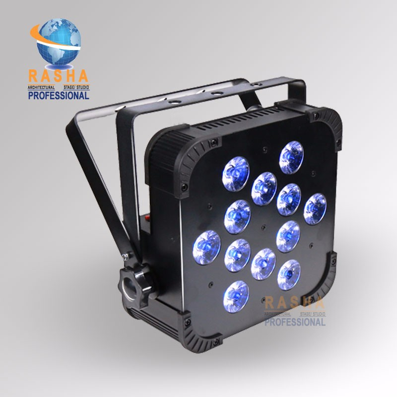 4X Rasha Quad V12-12pcs*10W 4in1 RGBW/RGBA LED Slim Par Profile,LED Flat Par Can,Disco Stage Event Light rasha quad factory price 12 10w rgba rgbw 4in1 non wireless led flat par can disco led par light for stage event party