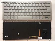 цена на GR Germany keyboard For SONY SVF14N SVF14NA28T With Silver frame with backlit Laptop Keyboard GR Layout