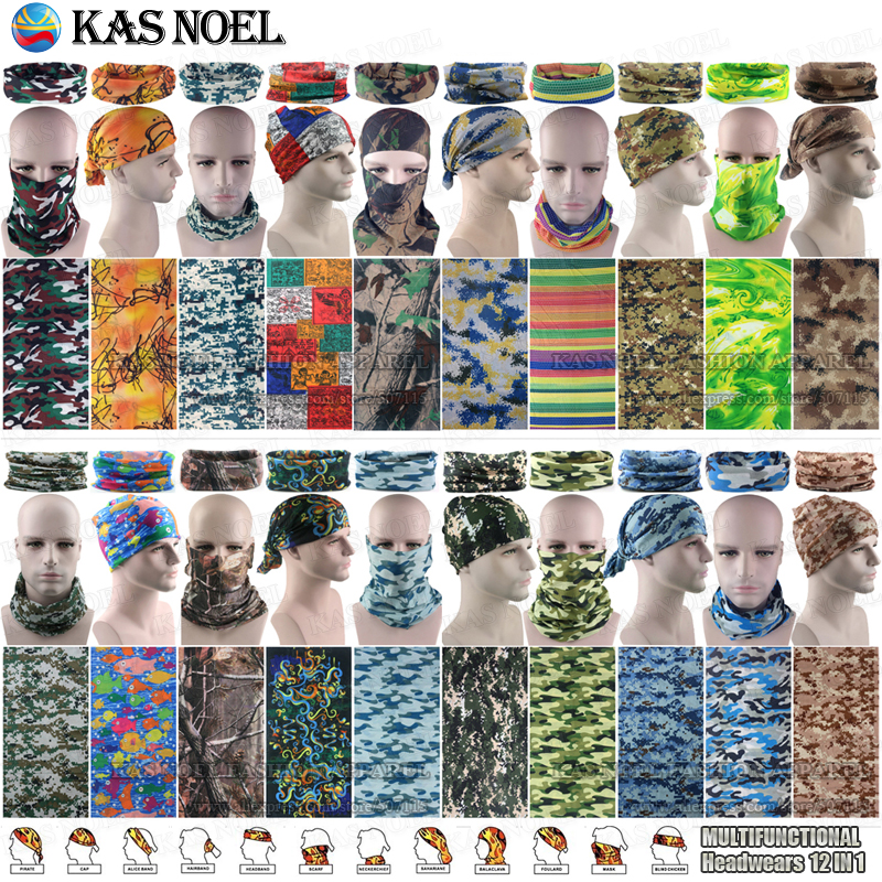 Outdoor Hunting Camo Woodland Camouflage Magic Seamless Tubes Bandanas Military Camo Scarf Bandanas Multifunction Headwear