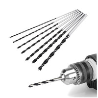 Hight Quality Precise 7pcs 300mm Long Brad Point Drill Bit Set Tools Woodworking Drilling Tools