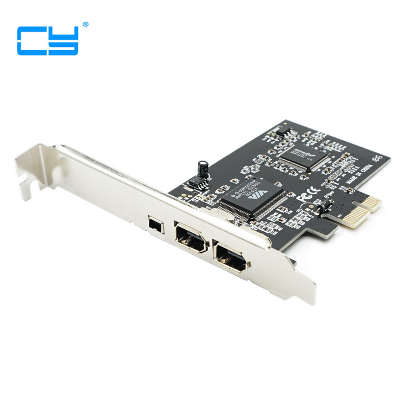 NEW PCIe with 6Pins PCI-E FIREWIRE 400 IEEE 1394 CARD VIA CHIPSET WORK WIN7 MAC OS pci-e to 1394 a b WITH CABLE кабель питания 20 shippment mac pro g5 mac 6pin 2 pci e 6pin 4500 gtx285 hd4870 hd5770 gtx285