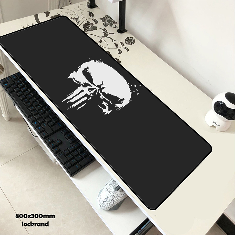 Earnest Punisher Pad Mouse Anime Computer Gamer Mause Pad 800x300x2mm Padmouse New Arrival Mousepad Ergonomic Gadget Office Desk Mat Computer & Office Mouse Pads