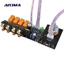AIYIMA Audio Switch Ingang Selectie Board RCA 4 Manier Audio Signaal Relais Selector Switching Board Lotusbloemzetel Voor Versterker Chassis