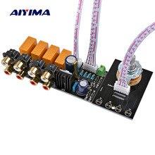 Аудиопереключатель AIYIMA, плата для выбора входного сигнала RCA, 4 стороннее реле аудиосигнала, Селекторное переключение, плата Lotus Seat Для шасси усилителя
