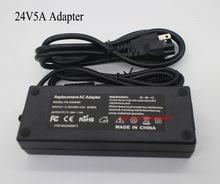 24 v 5a 120 w conduziu a luz do transformador ac100-240v ao adaptador de energia dc24v para computador e tira conduzida