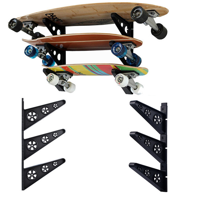 739378b1 3Pairs Skateboard Wall Rack Hanger Skateboard Organisation Rack Holder  Longboard Wall Mount Storage Skateboarding Display Tools-in Storage Holders  & Racks ...