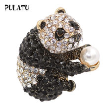 PULATU Chinese Panda Brooch Pins for Women Coat Corsage Clips Suit Scarf Dress Decoration Broach Jewelry Accessories Gift A2L6-6(China)