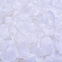 1000 шт./лот, лепестки роз, свадебные, искусственные шелковые цветы, украшения, свадебные, вечерние, цветные, 40 цветов, RP01 - Цвет: white