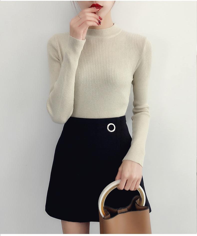 Shiny Lurex Autumn Winter Sweater Women Long Sleeve Pullover Women Basic Sweaters Turtleneck 19 Korean Style Knit Tops Femme 22
