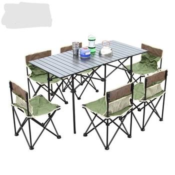 Zestaw ogrodowy meble ogrodowe meble ogrodowe patio meble muebles de jardin ze stopu aluminium składane 1 stół + 6 zestaw mebli z krzesłami tanie i dobre opinie Ogród zestaw Nowoczesne Ecoz Metal