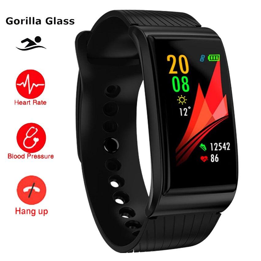 все цены на Swim S Body Gorilla Smart Watch Bracelet BP Heart Rate Monitor Fitness Tracker Band For IOS/Xiaomi/Honor PK Mi Band 4/Fit Bit 3 онлайн