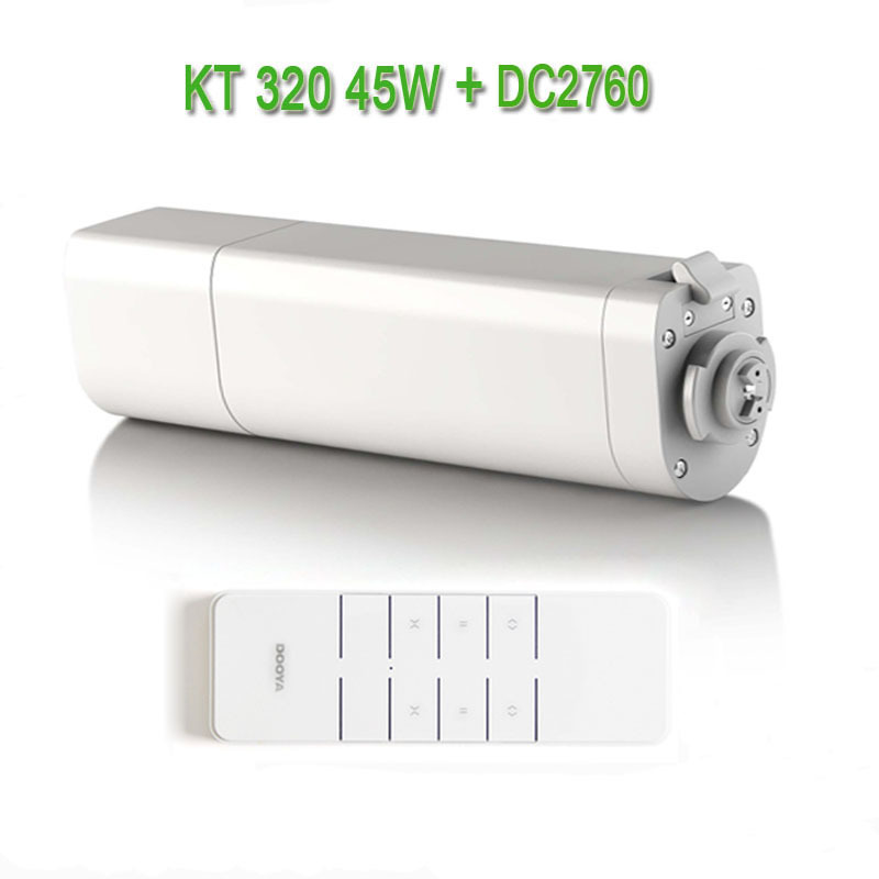 Automatic Electic Curtain Motor KT320E/45W,Electronic Motor+Dooya DC2760 2 Channel Emitter Remote Controller