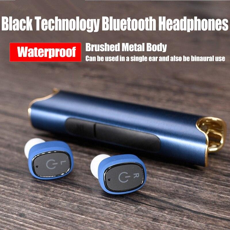 bezo S2 Waterproof bluetooth earphone sport headset wireless in ear Hifi cordless noise canceling handsfree Mobile