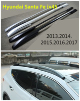 Auto Roof Racks Luggage Rack For Hyundai Santa Fe ix45 2013.2014.2015.2016.2017 High Quality Aluminium Car Accessories