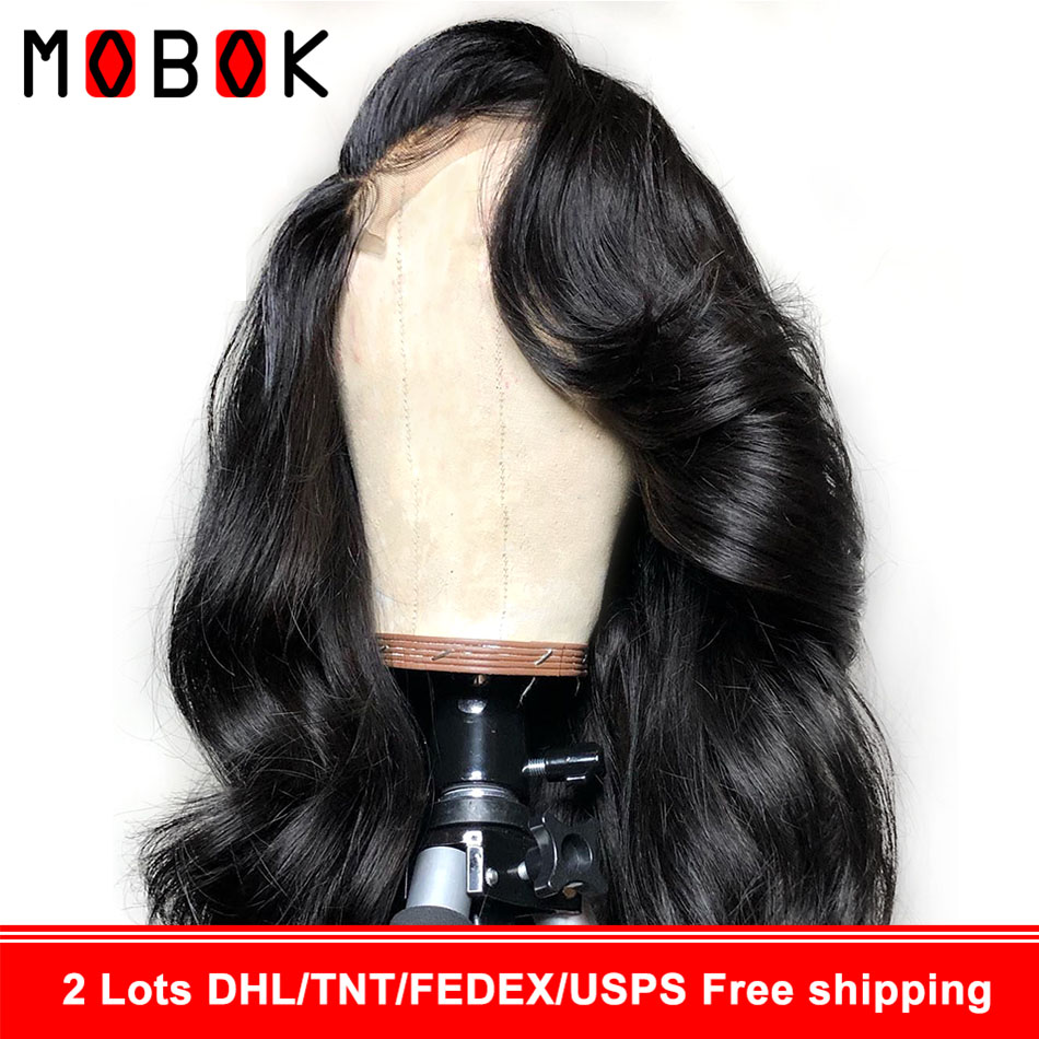 Mobok 360 Lace Wig Body Wave Wig Lace Front Human Hair Wig For Women Pre Plucked With Baby Hair Lace Wig Malaysian Remy Hair(China)